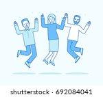 vector illustration in flat... | Shutterstock .eps vector #692084041