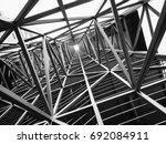 steel structure architecture... | Shutterstock . vector #692084911