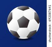 football vector icon  soccer...   Shutterstock .eps vector #692087641