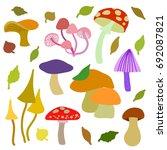 fungi set. edible and non...   Shutterstock .eps vector #692087821