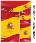 spain flag abstract colors... | Shutterstock .eps vector #692088901