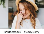 close up photo of amazing happy ... | Shutterstock . vector #692093599