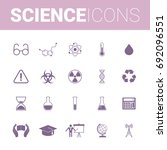 science set icons | Shutterstock .eps vector #692096551
