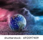 global warming and apocalypse... | Shutterstock . vector #692097409