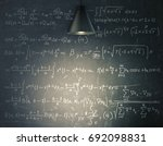 blackboard with mathematical... | Shutterstock . vector #692098831