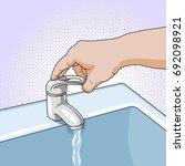 faucet of ceramic furniture.... | Shutterstock .eps vector #692098921