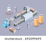 automated production line.... | Shutterstock .eps vector #692099695