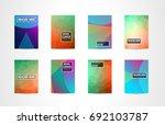 a4 brochure cover mininal...   Shutterstock . vector #692103787