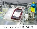 blood bag donation on storage... | Shutterstock . vector #692104621