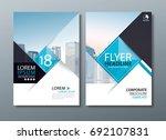 black blue annual report... | Shutterstock .eps vector #692107831