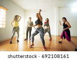cheerful women of different age ... | Shutterstock . vector #692108161