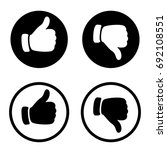 vector like icon and dislike... | Shutterstock .eps vector #692108551