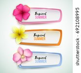 set of vector banners with... | Shutterstock .eps vector #692108995