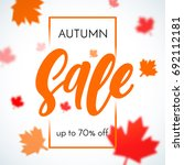 autumn sale background with... | Shutterstock .eps vector #692112181