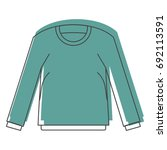 shirt with long sleeves in... | Shutterstock .eps vector #692113591