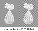 transparent plastic or cloth... | Shutterstock .eps vector #692118469