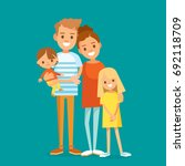 young happy family | Shutterstock .eps vector #692118709