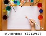 preparing to drawing. blank... | Shutterstock . vector #692119639