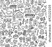 back to school  seamless... | Shutterstock .eps vector #692122105