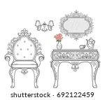 baroque furniture rich set... | Shutterstock .eps vector #692122459