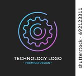 technology logo. cog  gear icon ... | Shutterstock .eps vector #692123311