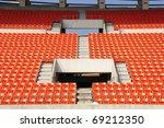 seats at stadium  entrance walk ... | Shutterstock . vector #69212350