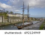 tall ship in charlestown ... | Shutterstock . vector #692124949