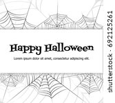 spider web. black and white... | Shutterstock .eps vector #692125261