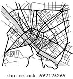vector map of the city of... | Shutterstock .eps vector #692126269