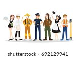 a group of people of different... | Shutterstock .eps vector #692129941