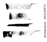 set of 4 artistic mascara black ... | Shutterstock .eps vector #692129971