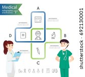 medical health and healthcare... | Shutterstock .eps vector #692130001