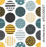 colorful seamless patterns with ... | Shutterstock .eps vector #692130037