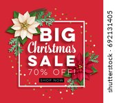 christmas big sale. poster with ... | Shutterstock .eps vector #692131405