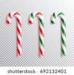set of realistic christmas... | Shutterstock .eps vector #692132401