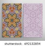vertical seamless patterns set  ... | Shutterstock .eps vector #692132854