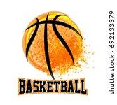 vector grunge basketball   t...   Shutterstock .eps vector #692133379