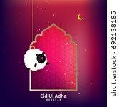 happy eid ul adha  vector... | Shutterstock .eps vector #692138185