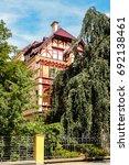 romantic architecture of... | Shutterstock . vector #692138461