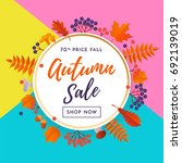 autumn gold sale poster or... | Shutterstock .eps vector #692139019