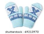little baby mittens gloves...   Shutterstock . vector #69213970