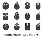 black mouse icons set | Shutterstock .eps vector #692143675