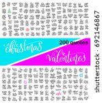 mega set of 200 hand lettering...   Shutterstock .eps vector #692146867