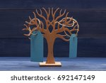 earring holder with blue price... | Shutterstock . vector #692147149