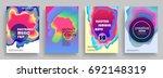electro summer wave poster.... | Shutterstock .eps vector #692148319