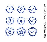 years of warranty stamp set ... | Shutterstock .eps vector #692149849