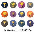 trophy icons | Shutterstock .eps vector #692149984