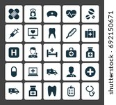 medicine icons set. collection... | Shutterstock .eps vector #692150671