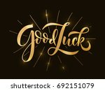 hand sketched good luck t shirt ... | Shutterstock .eps vector #692151079