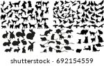 vector  isolated silhouette of... | Shutterstock .eps vector #692154559